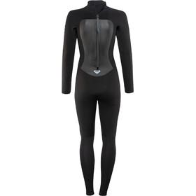 Roxy 4/3 Prologue Glued Blindstitched Back Zip Wetsuit Women Black